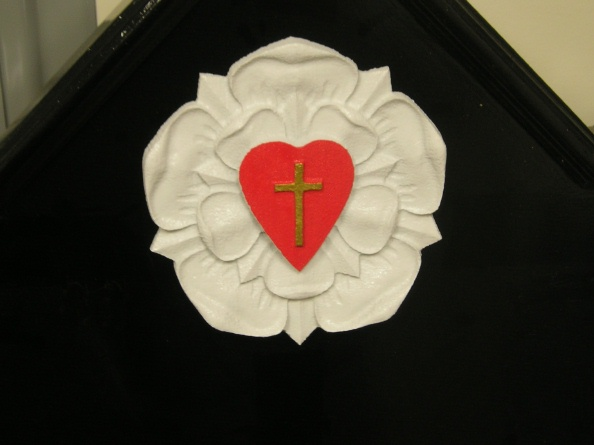 D13040 - Carved 3D Flower, Heart and Cross for Church Welcome Sign
