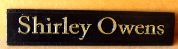 M7181 - Brass Name Plaque for Office Door