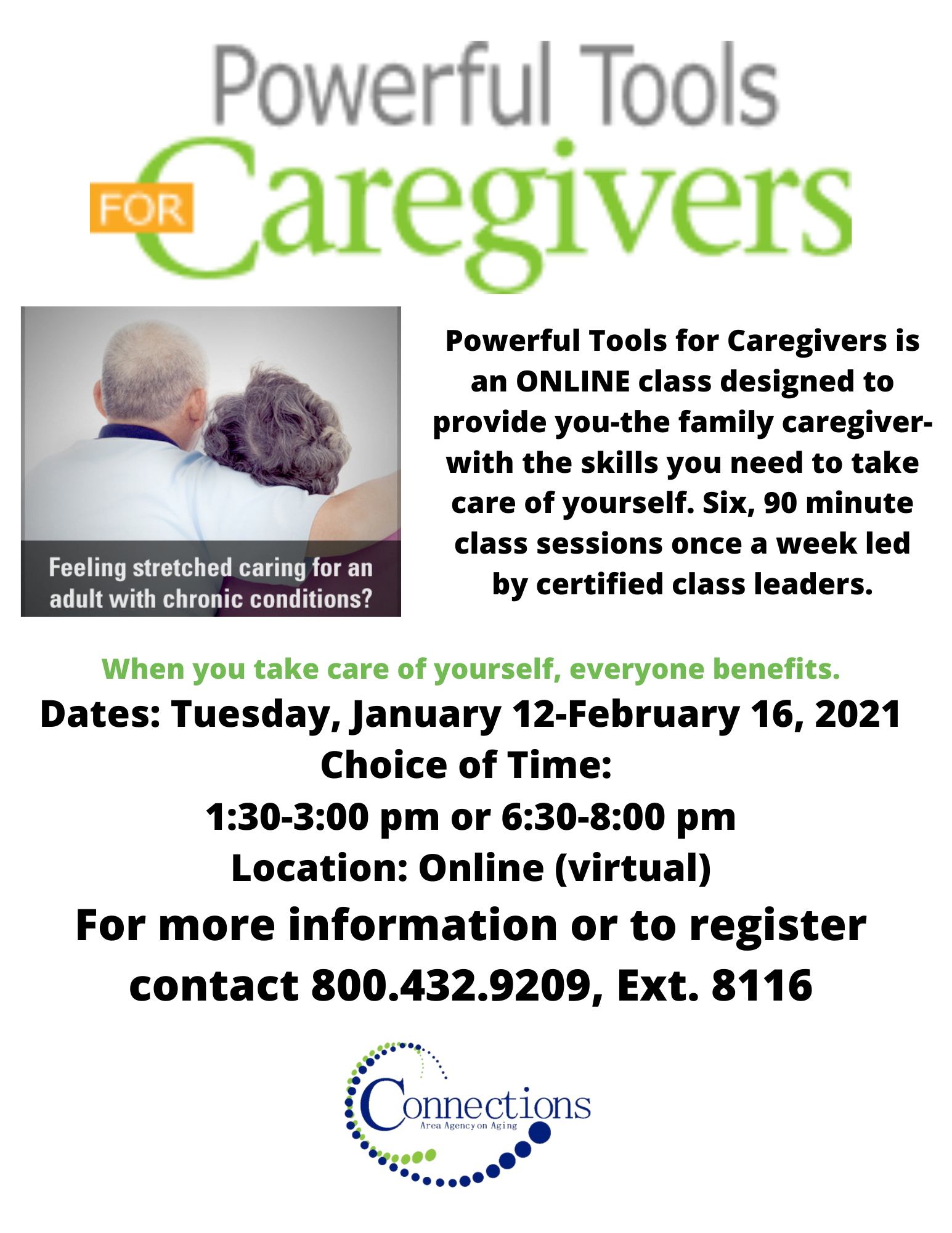 Virtual Tuesday Evening Group: Powerful Tools for Caregivers