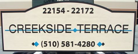 "K20135 - Sandblasted ""Oceanside Terrace"" Apartment Entrance Sign"