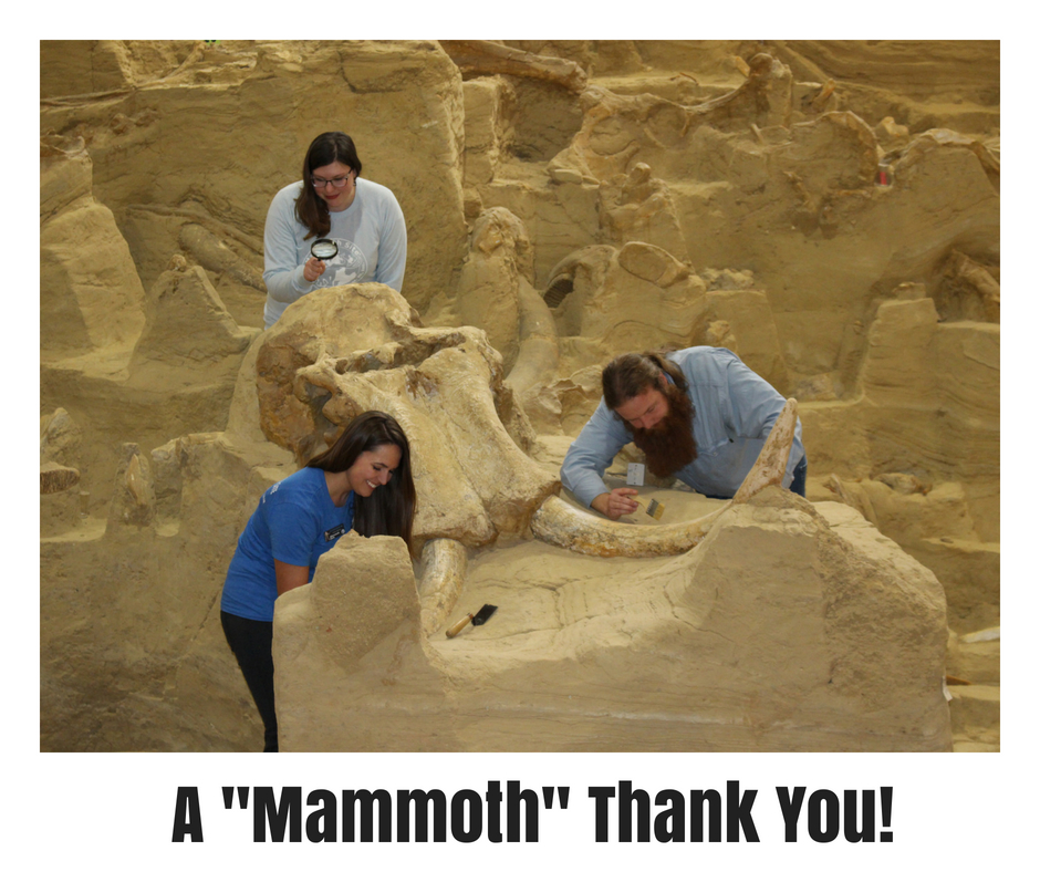 The Mammoth Site Receives $10,000.00 in Grant Award