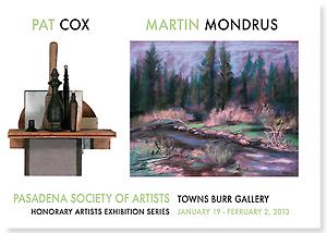 Honorary Artists Exhibition Series:  Pat Cox & Martin Mondrus