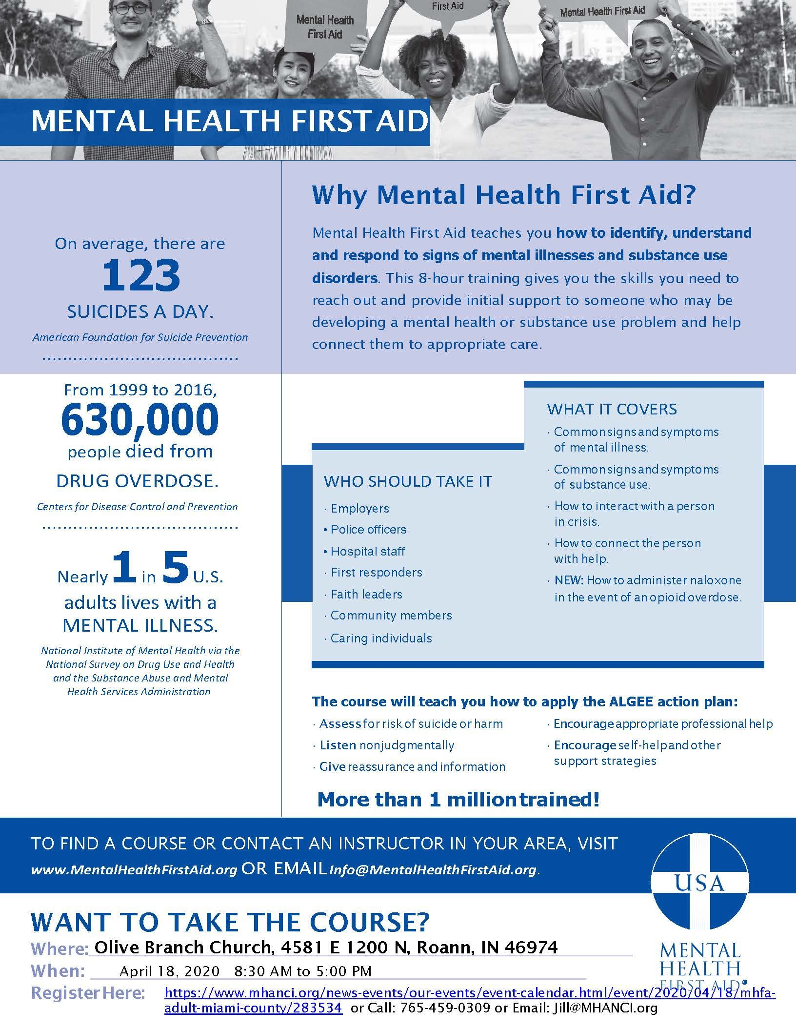 Mental Health First Aid Course - Miami County
