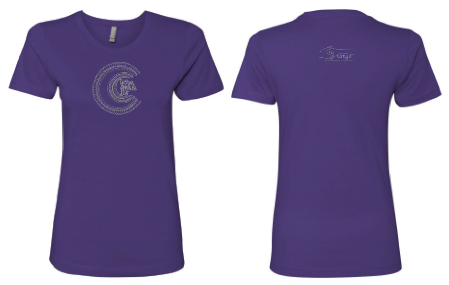 '18 Yoga Mala T-Shirt (Purple-XL)