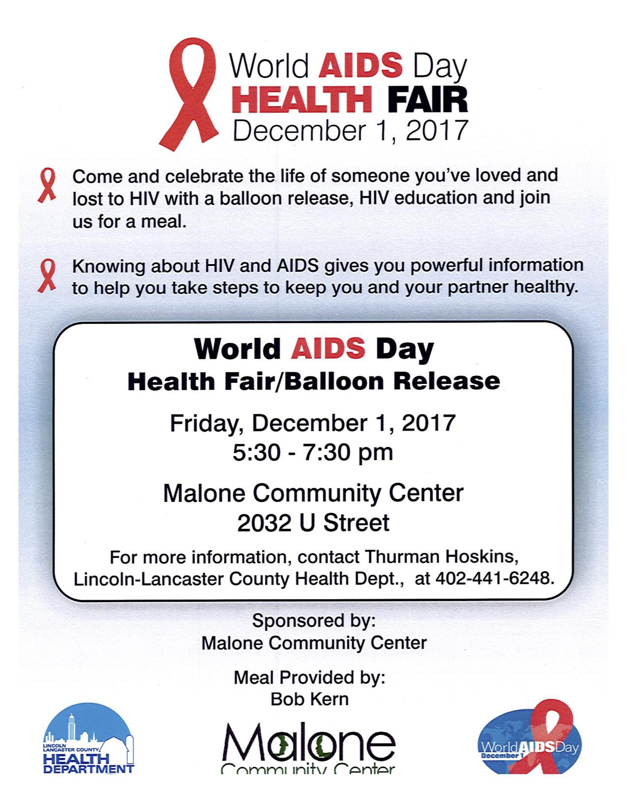 World Aids Day Health Fair