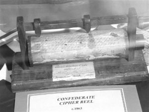 Confederate Cipher Reel at the National Cryptologic Museum