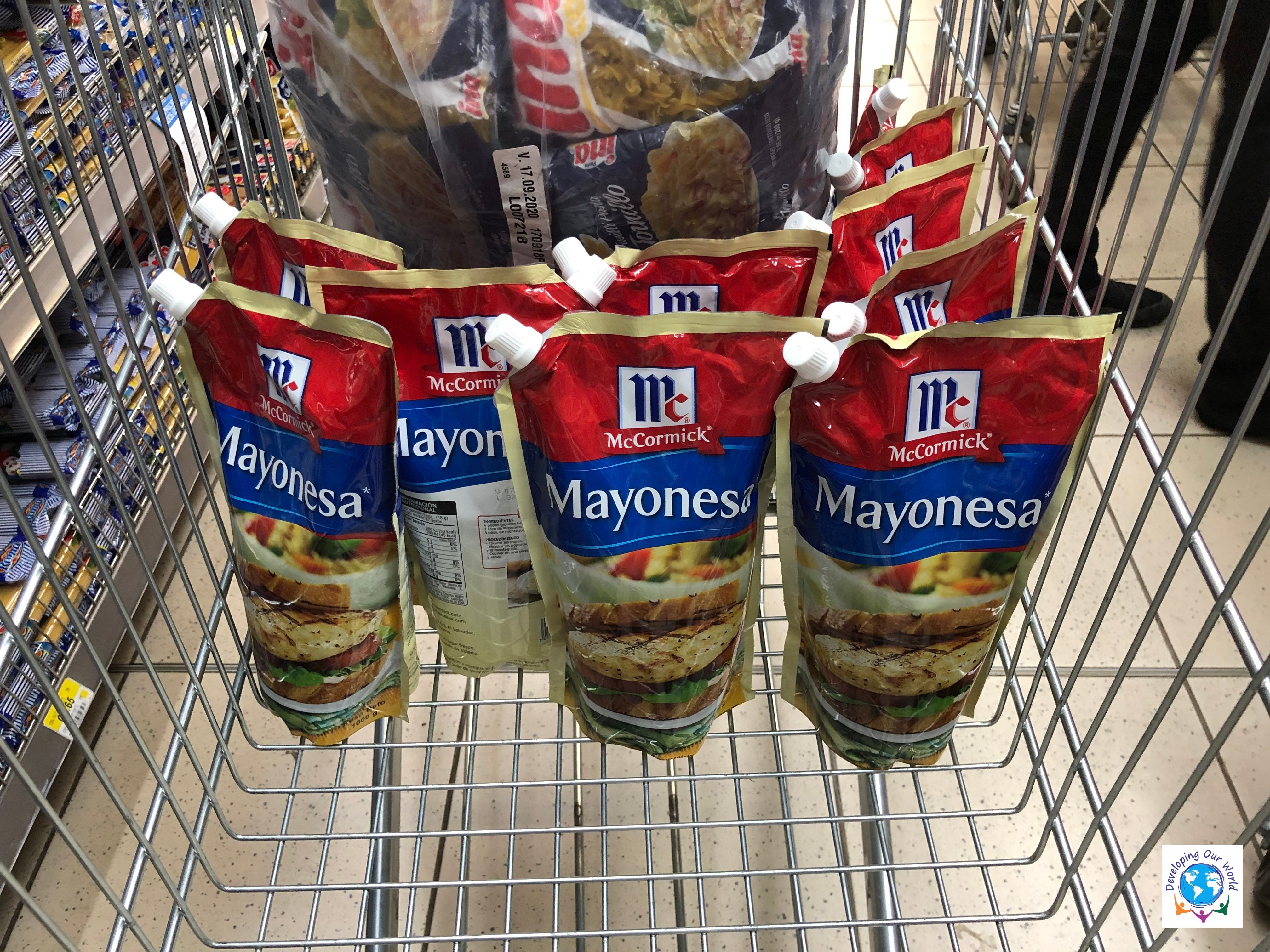 10 bags of mayonnaise