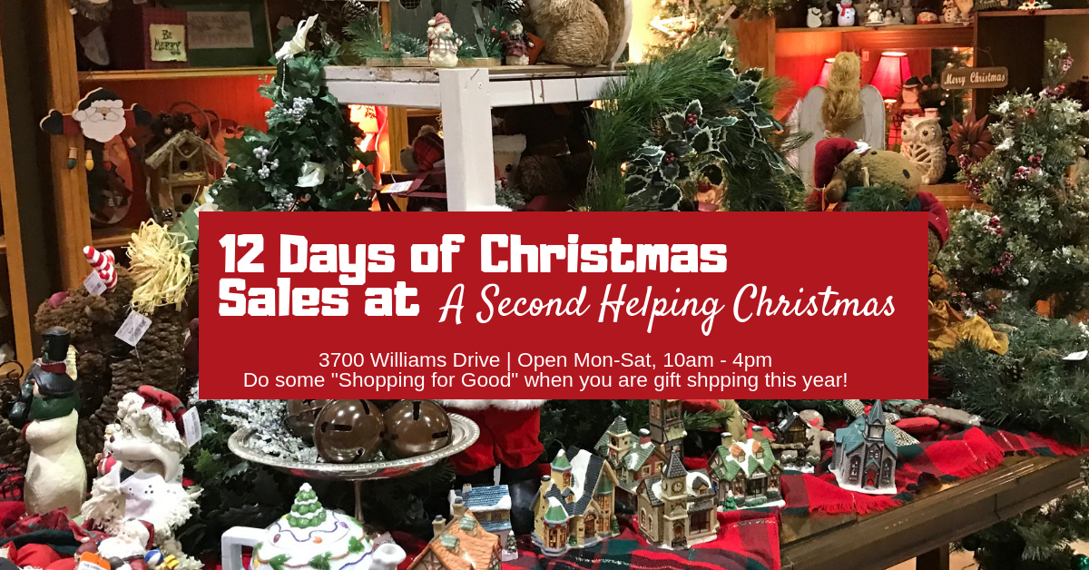 12 Days of Christmas Sales at Second Helping