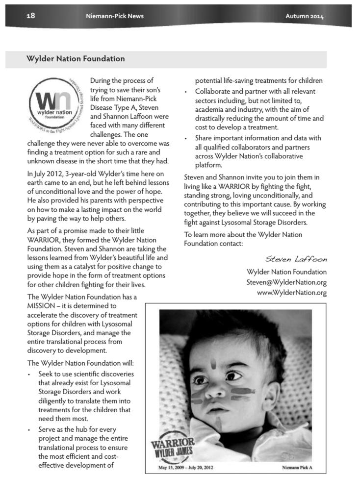 """""""Wylder Nation Foundation"""""""