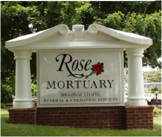 M6742 - Custom Funeral Home & Mortuary Sign