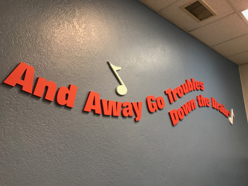 Awesome Office Wall Lettering