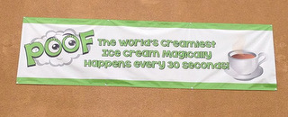 Custom printed banners for Orange County Restaurants