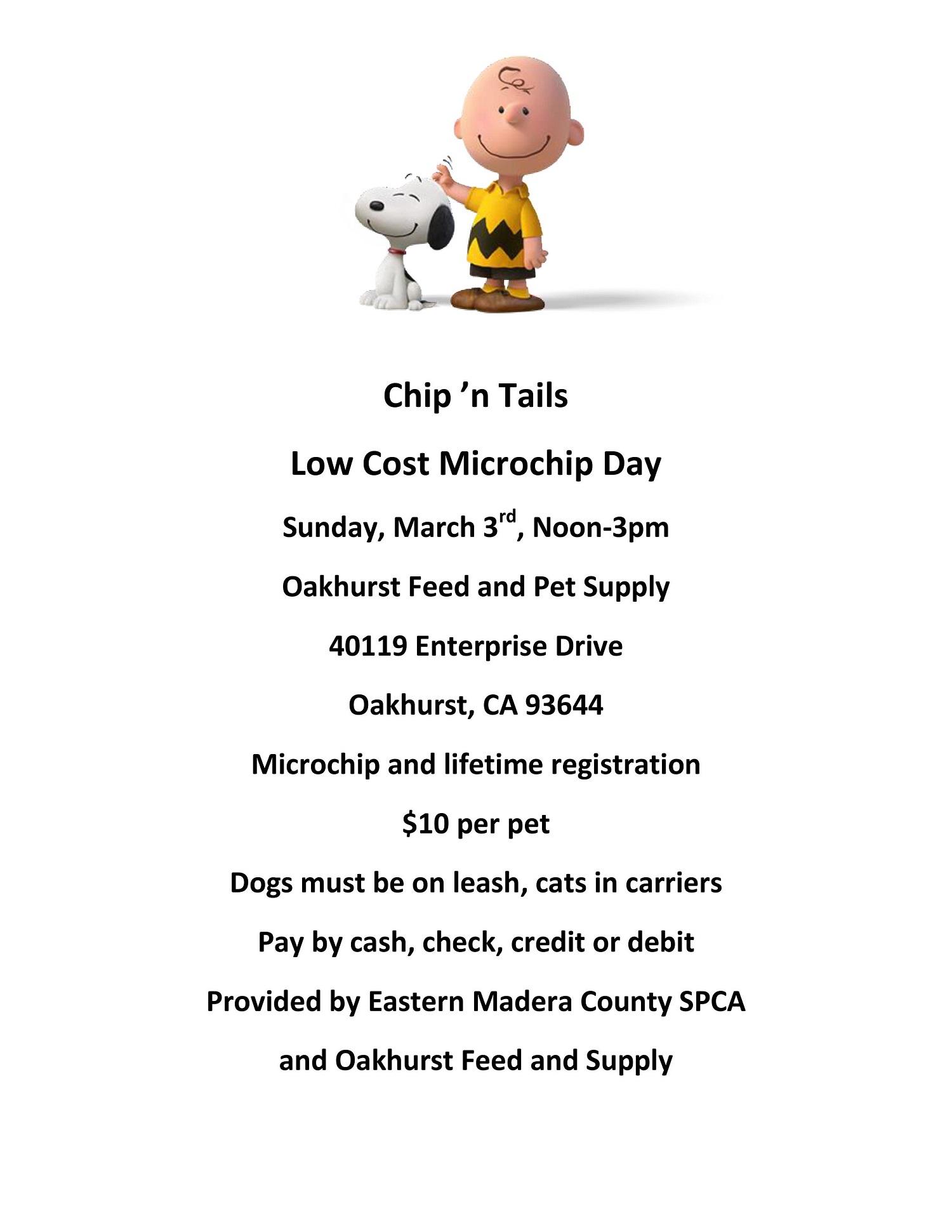 Eastern Madera County SPCA : News & Events : Event Calendar