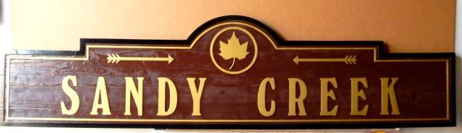 I18945 -Carved  Redwood Property Name Sign
