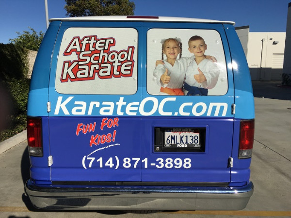 Vinyl Window Perf for Vans in Orange County