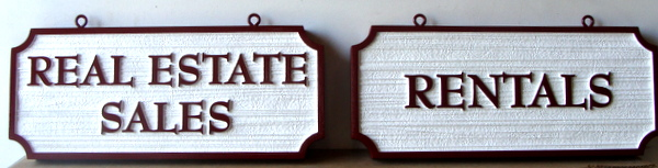 C12313 - Carved and Sandblasted HDU Real Estate Signs