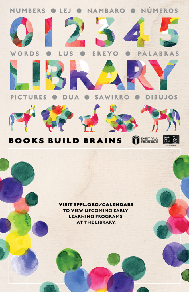 New Multilingual Posters with Saint Paul Public Library Encourage Families to Read Together