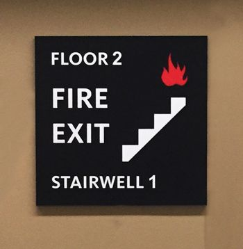Engraved Stairwell Sign
