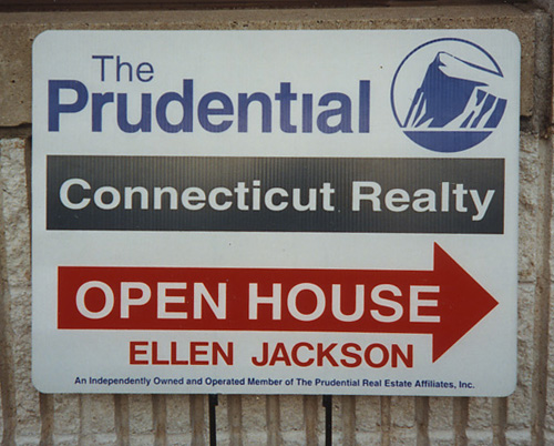 """Real Estate Agent """"Open House"""" Sign"""