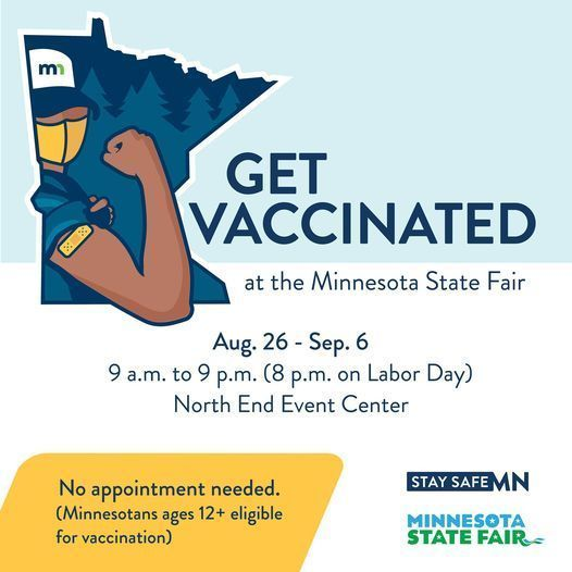 Minnesota State Fair to Include COVID-19 Vaccination Clinic