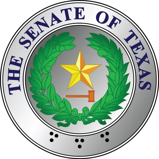 W32481 - Great Seal of Texas Senate, Colored Paint over Metallic Silver Paint