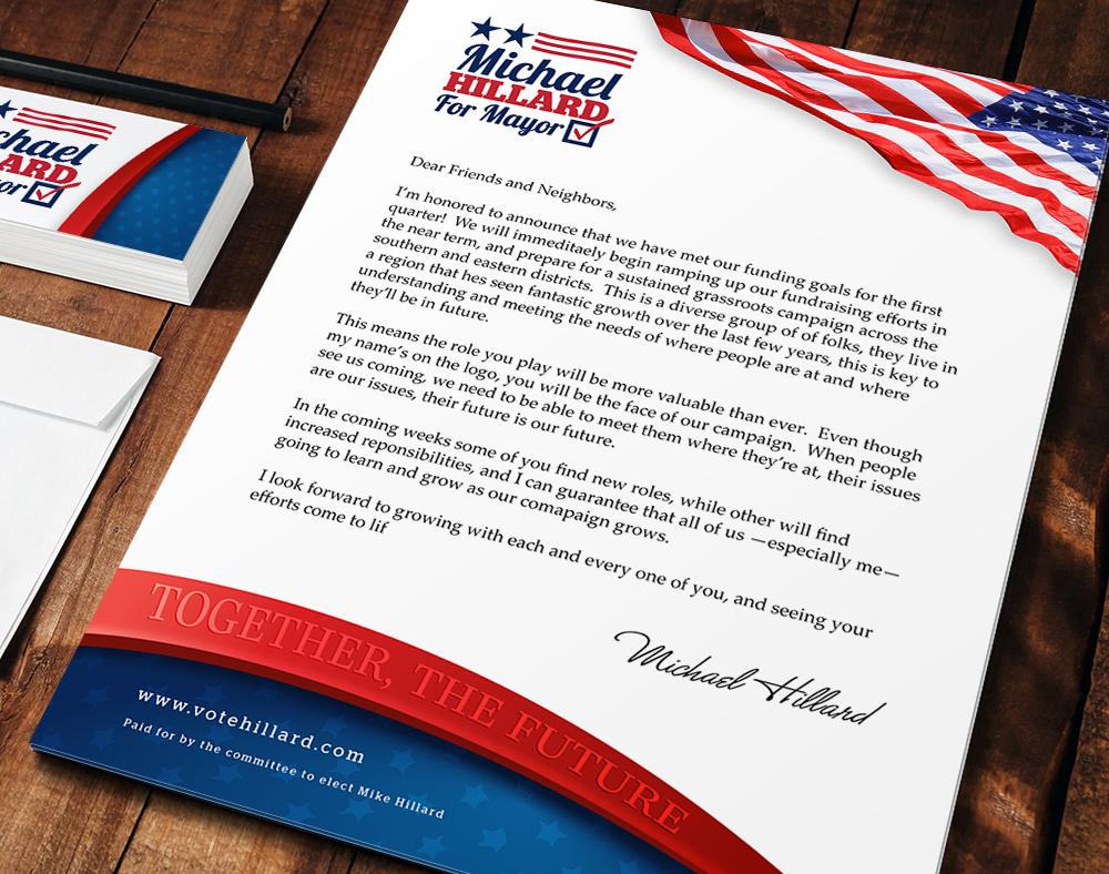 Union letterhead political campaign