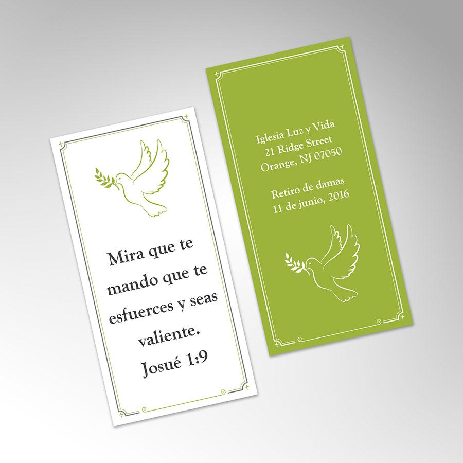 """Bookmark 2""""x4"""" - Iglesia de Luz y Vida"""