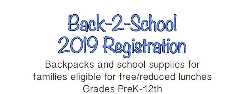 Back - 2 - School 2019 Backpack Registration