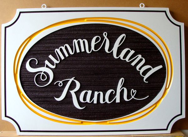 024032 – Carved, Engraved and Sandblasted HDU Sign for Summerland Ranch