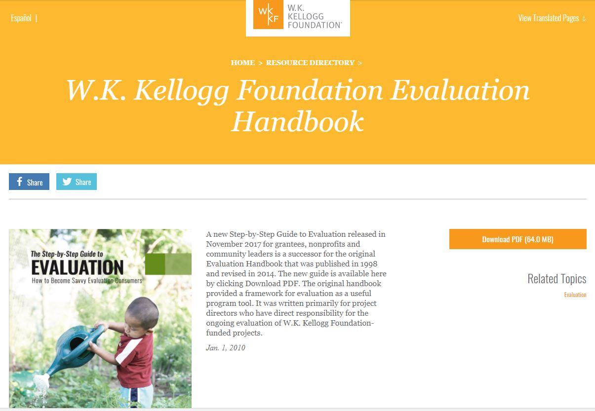 W. K. Kellogg Foundation – Evaluation Handbook