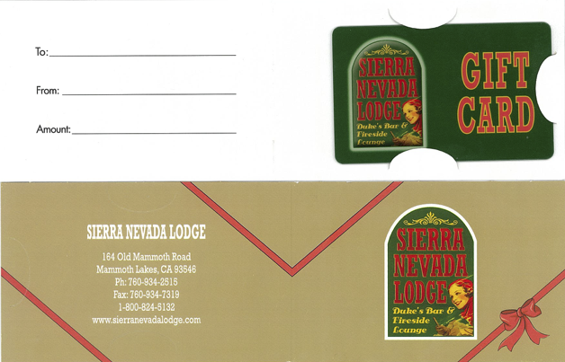 Sierra Nevada Lodge Gift Card Carrier