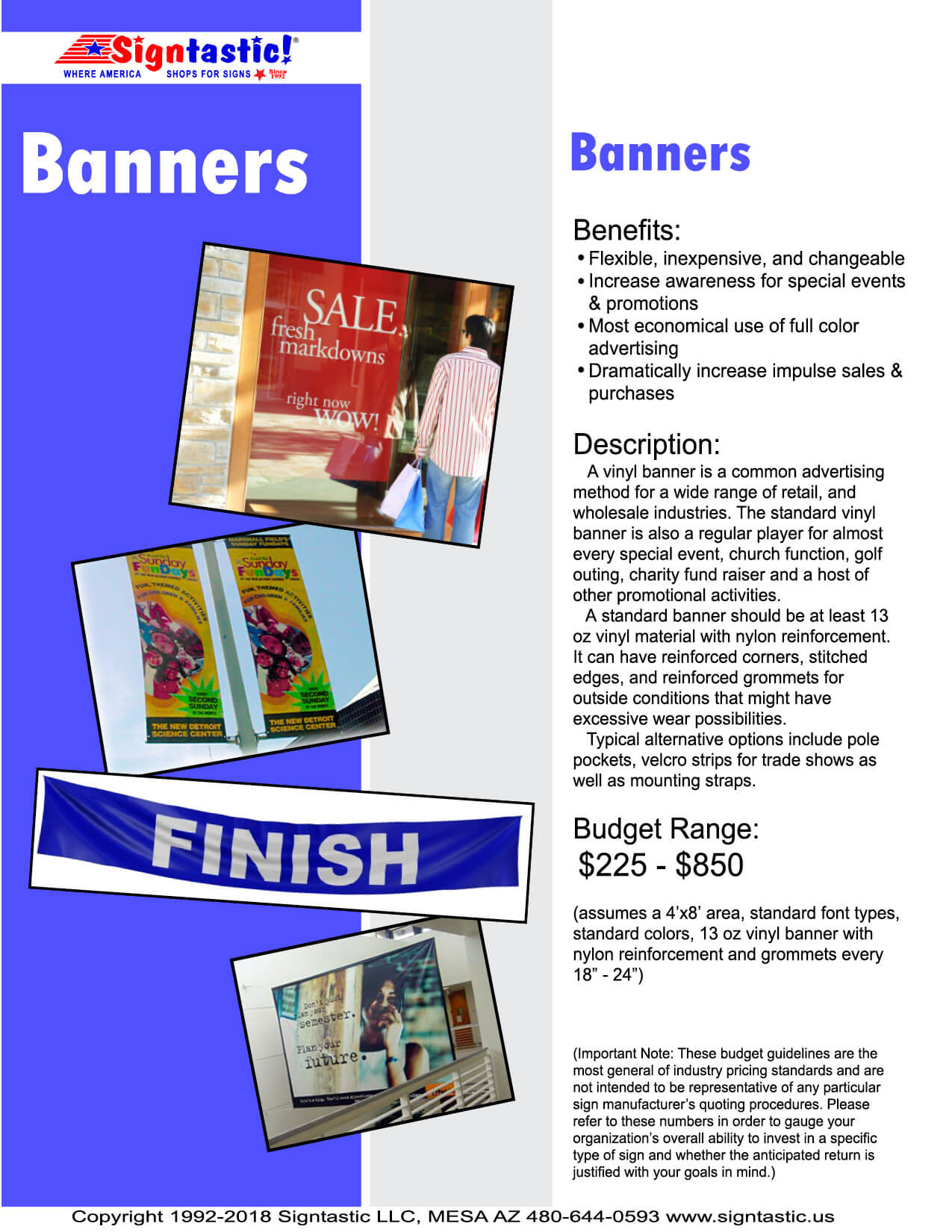 Banners Page