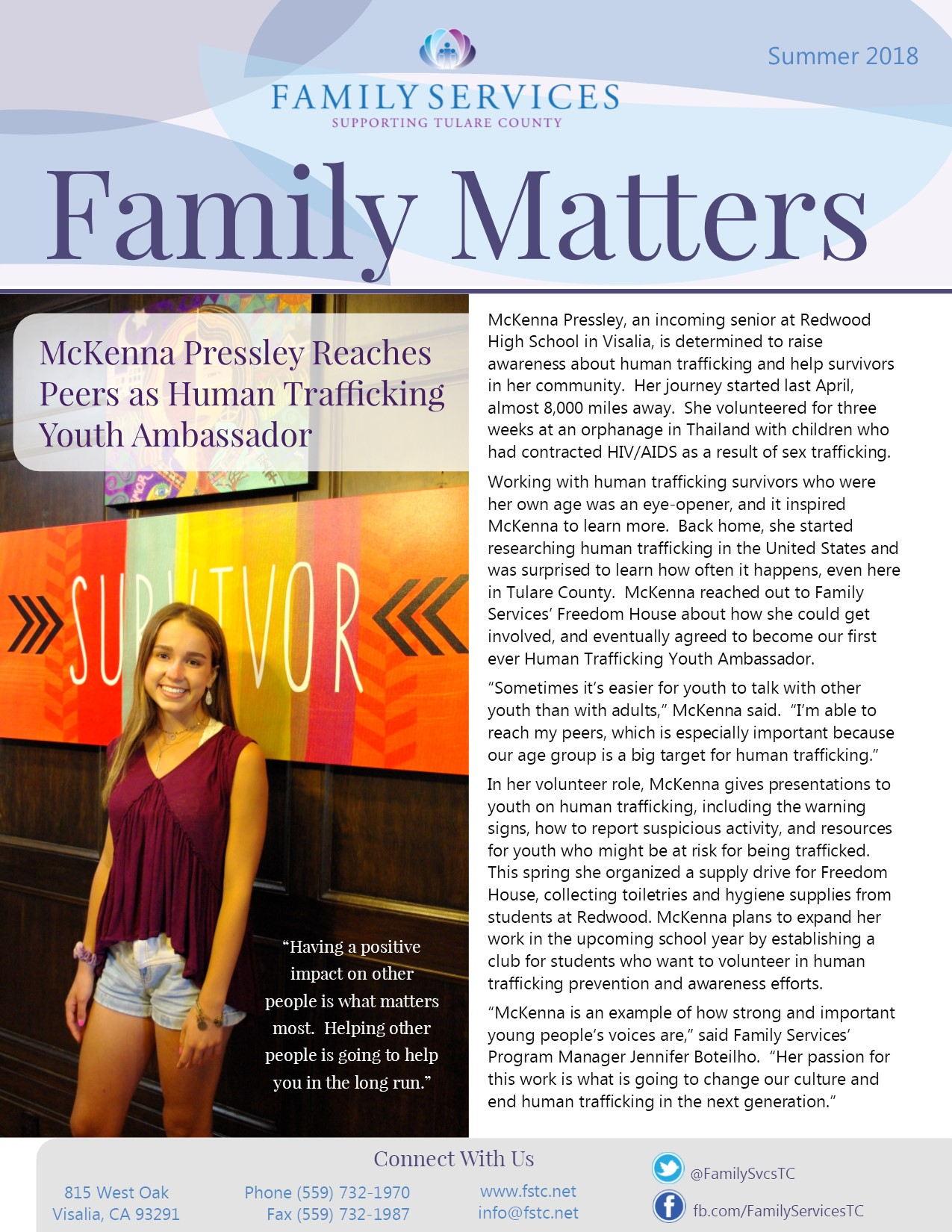 Download Family Services' Summer Newsletter