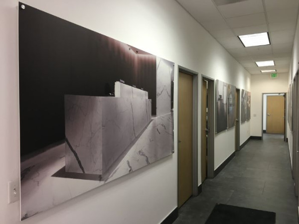 High resolution office wall photos mounted on boards Orange County CA