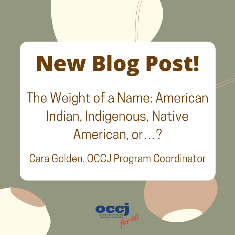 The Weight of a Name: American Indian, Indigenous, Native American, or…?