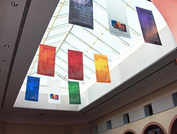 Temple Emanuel 7 Gates Banner Installation