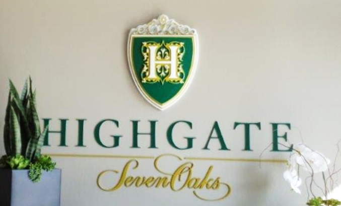 T29017 - Coat of-arms Logo and Text  Wall Plaques for the Highgate Hotel.