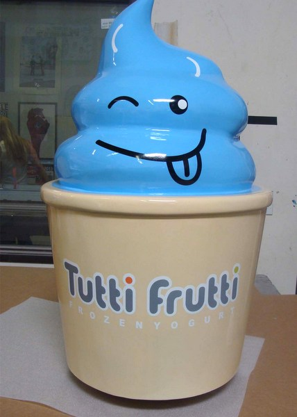 Q25814 - 3-D Sign Art - Ice Cream Face, Tutti Fruiti