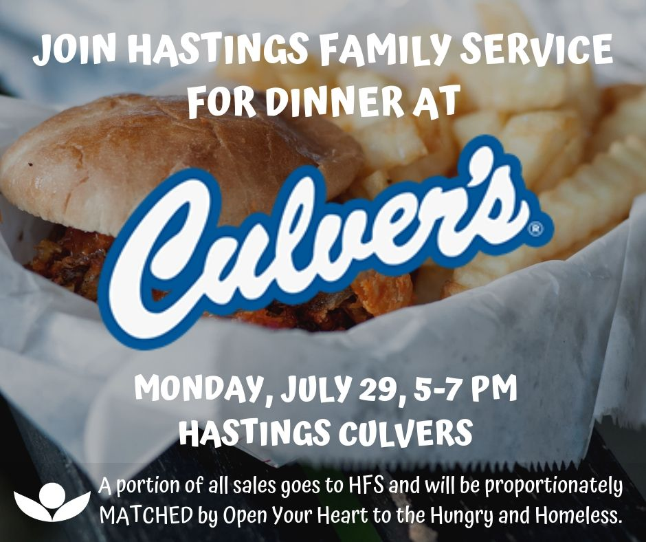 Join HFS for Dinner at Culver's