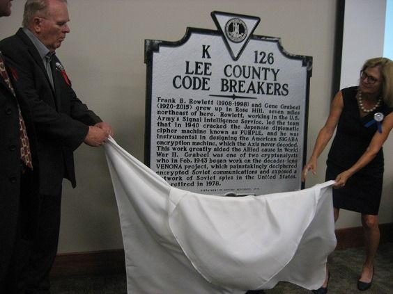 Honoring Two Lee County Code Breakers