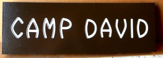 G16314 - Engraved HDU Sign for Camp David
