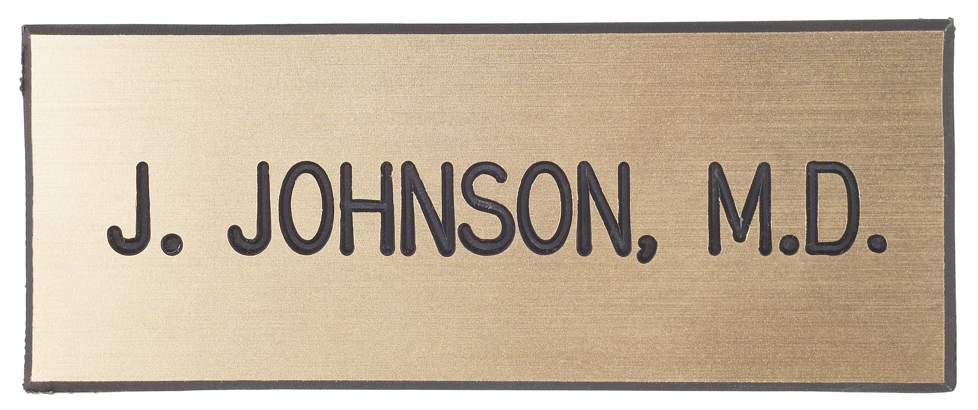 Name badges produced in Owings Mills, Maryland.