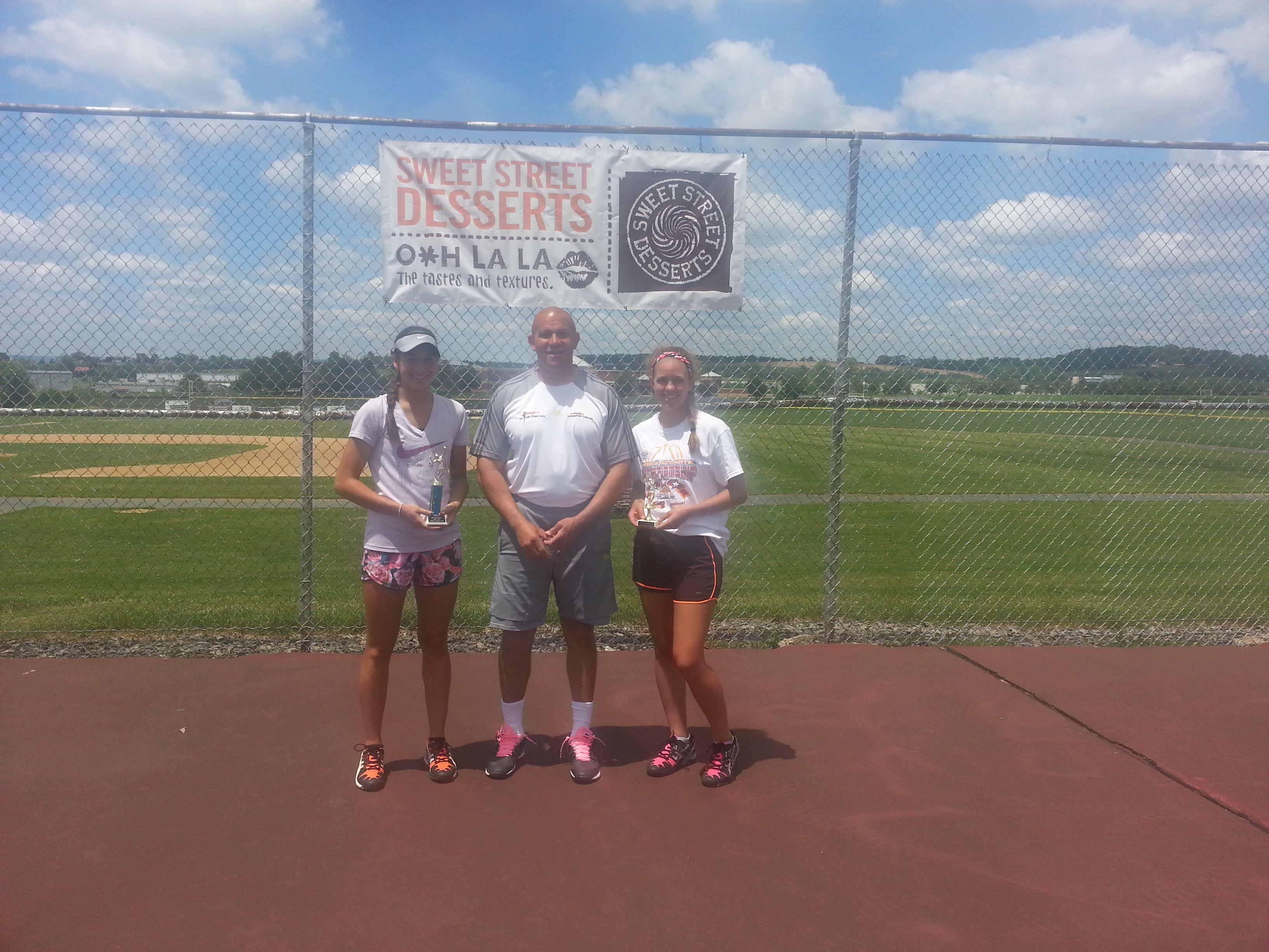 Set Point Tennis Open tennis Tournament Girls 16 Champion and Runnerup