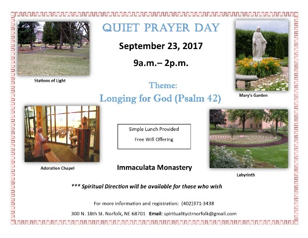 Quiet Day of Prayer