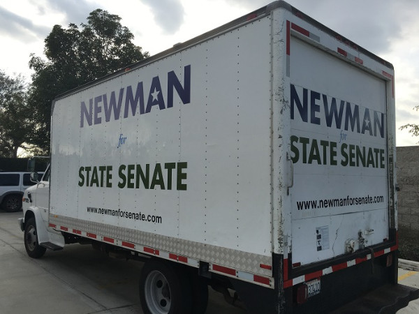Box Truck Lettering for Elections in Orange County CA