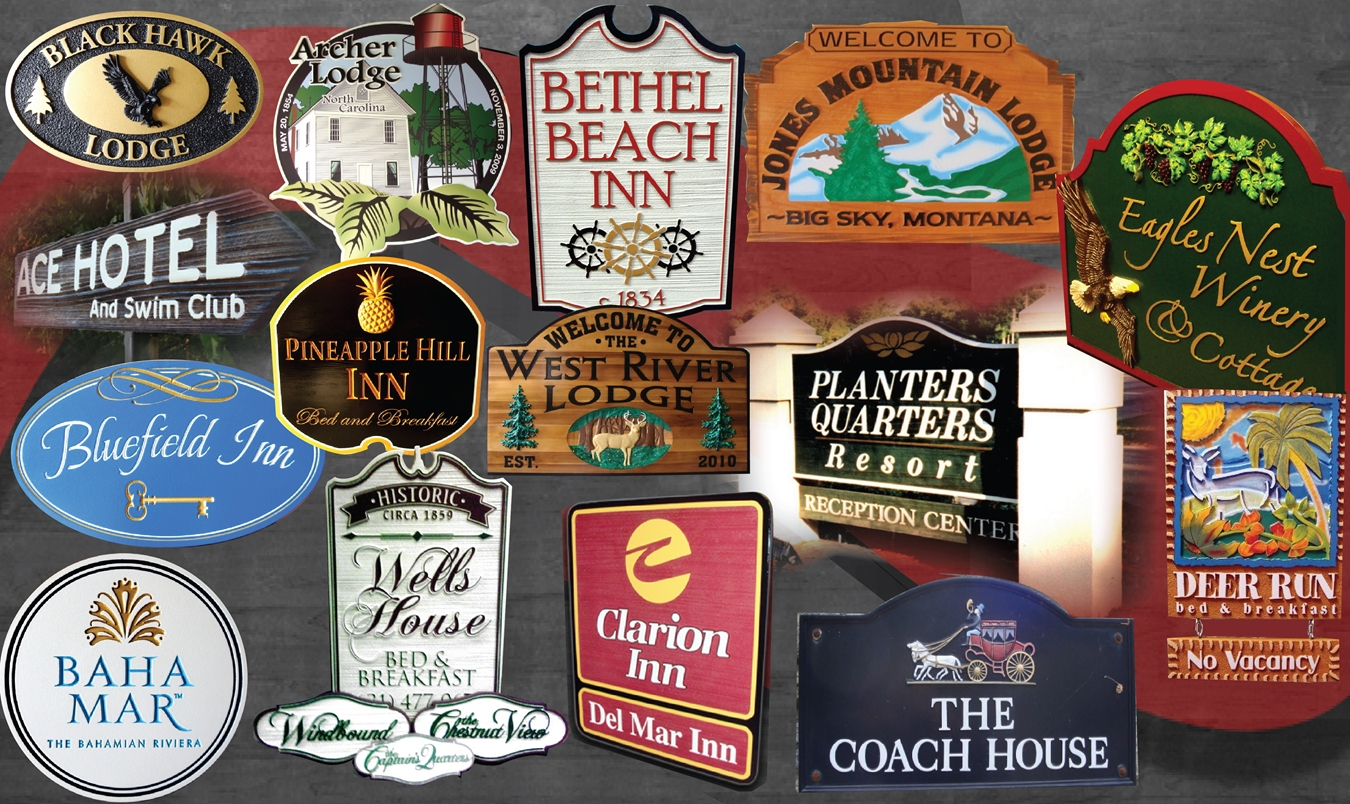 B&B, Inn, Motel and Hotel Signs & Plaques