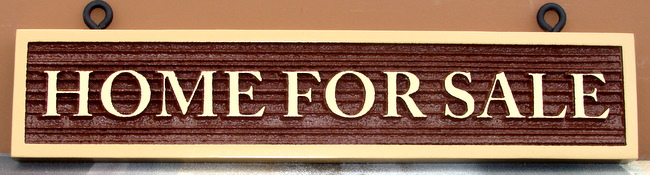 C12411 - Home for Sale Sign, Sandblasted High-Density-Urethane (HDU) with raised letters