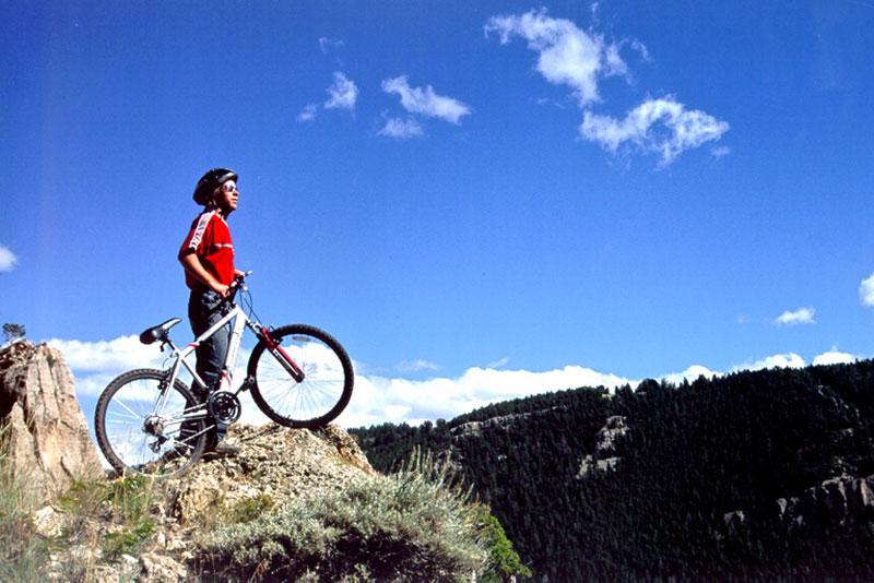 Mountain Bike in Canyon