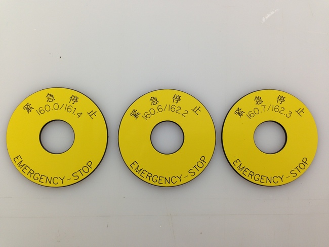 Emergency Stop Push Button Tags
