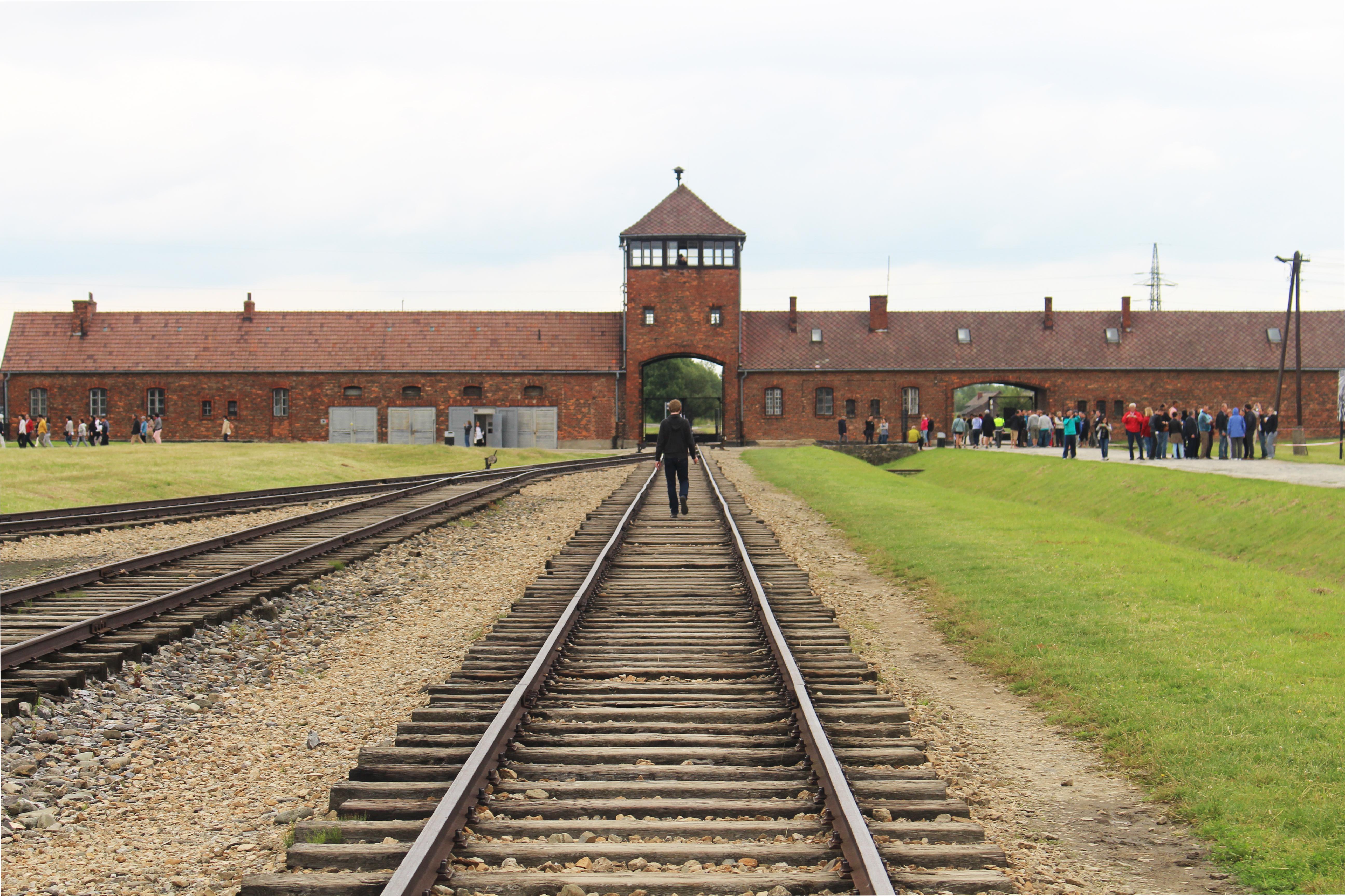 Kiel Majewski Walking the Railroad Ties in Birkenau